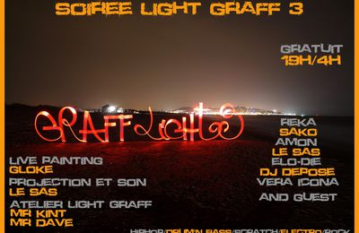 soiree light graff 3 dj/light graff/live painting/projection and more