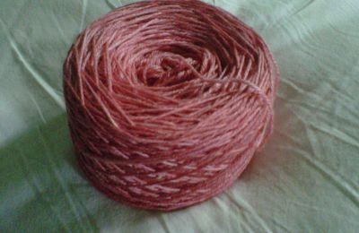 suite de l'essai teinture de laine 2