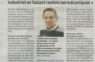 Les Sorbielles dans la presse 20 janvier 2013