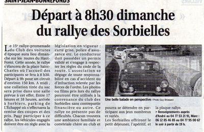 Le rallye des Sorbielles 2011 dans la presse régionale