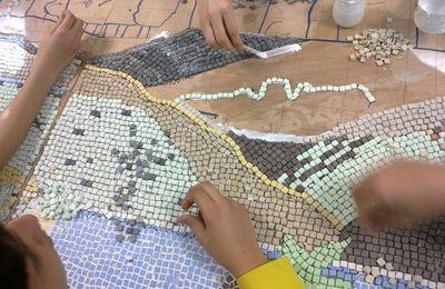 mosaïque au collège route d'Alès