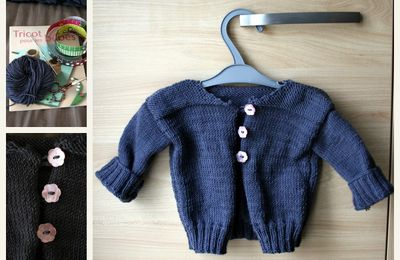 Collection P'tite Poulette : petit gilet #2... merci !!!