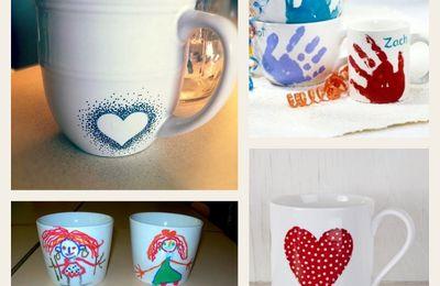 Les jolies idées des autres #39 : spécial fête des mères, mugs décorés