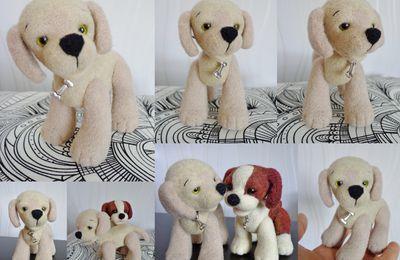 Atelier de Mamounette ; un petit chien Labrador en Laine cardée