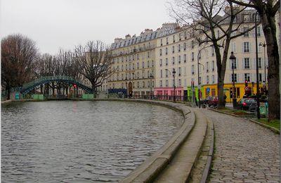Canal Saint Martin par temps gris...