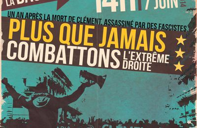 Manifestation antifasciste le 7 juin