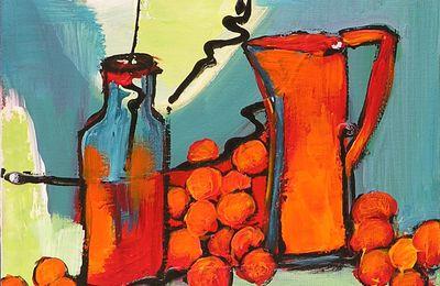Cerises et Pichets - 20 x 20 - 100 €
