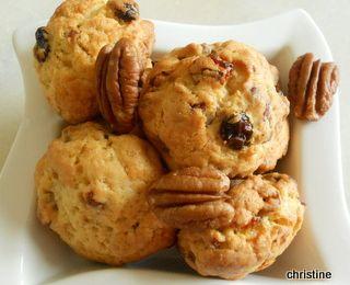 Cookies noix de pécan-raisins secs