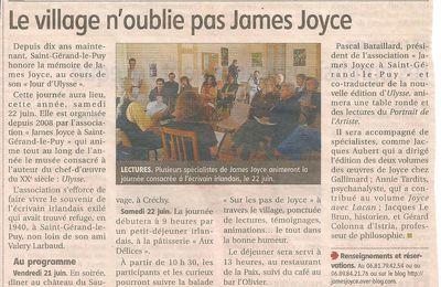 Le village n'oublie pas James Joyce