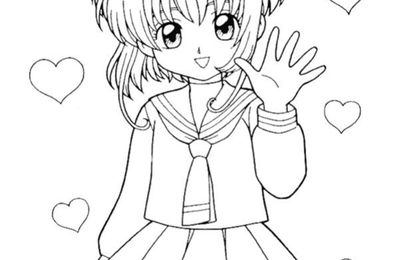 Coloriages de Card captor Sakura