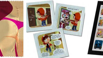 Une collection de préservatifs illustrée par Arthur de Pins