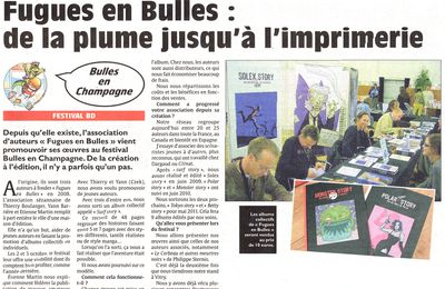 "L'Union... un journal plein de bulles ! (""Fugues en Bulles"")"