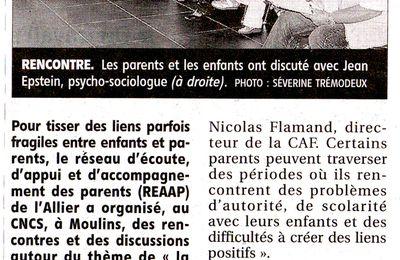 La journée départementale du REAAP 03 dans la presse locale