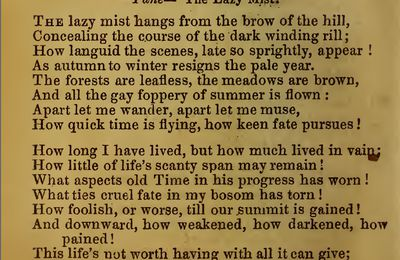 «The Lazy Mist», by Robert Burns