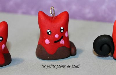 Fimo : glace et mini chat