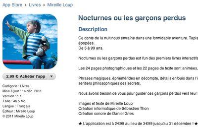 """Mon projet iPad """"Nocturnes"""" est disponible sur l'AppStore !"""