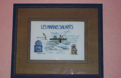 marais salants de Guérande au point de croix