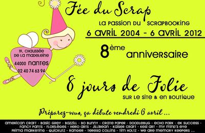 *** Happy B-Day la Fée du Scrap ***