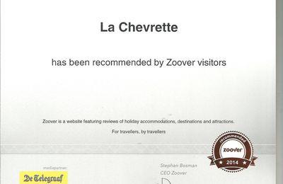 Nous sommes recommandés par Zoover !