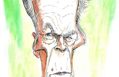 Caricature de Clint Eastwood.