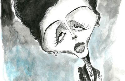 Caricature d'Edith Piaf :