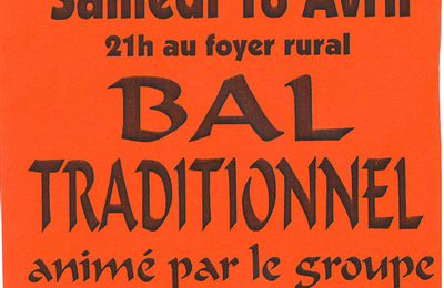 Bal Trad à BARS le 18 avril ....