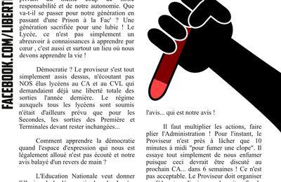 Au lycée de Gondecourt, les lycéens réclament la démocratie !