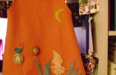 Une nouvelle collection de vêtements pour enfants en laine bouillie
