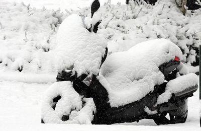 Comme un scooter en hiver.