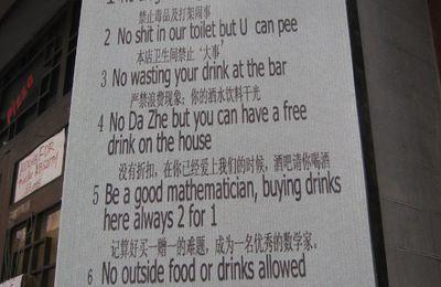 Je ne fréquente que des bars huppés....