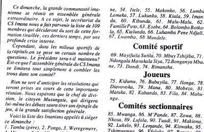 LES 109 BARONS D'IMANA ET MAZEMBE VS LUPOPO EN 1979