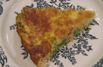 Quiche minute saumons brocoli