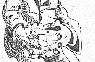 Mains croisées.