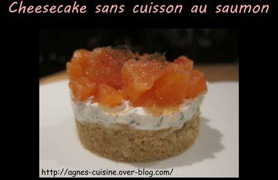 Cheesecake sans cuisson au saumon