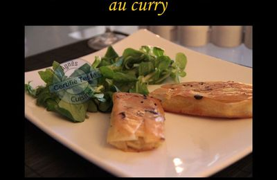 Cigares de poulet et courgettes au curry