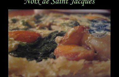 Tarte tatin épinards, noix de saint Jacques