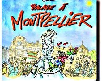 Gaston et sa balade à Montpellier