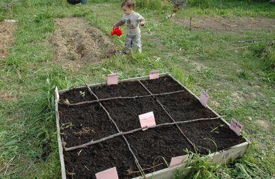 Un potager en carré pour les enfants