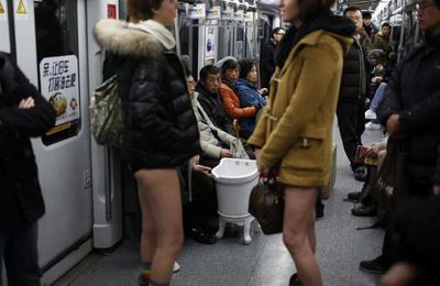 No pants Shanghai