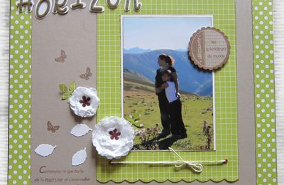 page de scrap clean & simple: Horizon