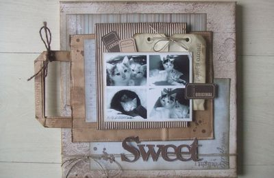 Mini album SWEET sur canvas 30x30