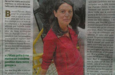 """""""Le choix d'Isabelle Loirat"""" Presse Océan 31 12 2013"""
