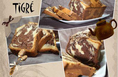 Gâteau tigré (marbré) super gonflé