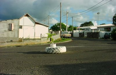 Rond-point à Basse-Terre (Guadeloupe)