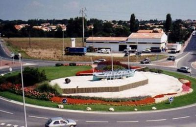 Rond-point à Marennes