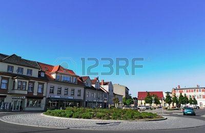 Rond-point à Anklam (Allemagne)