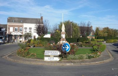 Rond-point à Fleurbaix