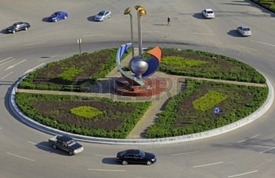 Rond-point à Urumqi (Chine)
