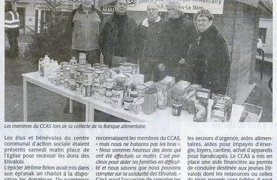 29 novembre 2014 : collecte du CCAS d'Etival pour la Banque Alimentaire