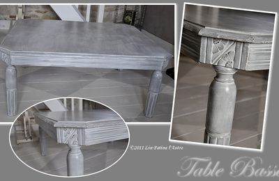 ♥ Table Basse patiné